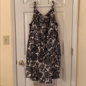 Merona print high low hem sundress